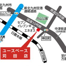 U-SPACE苅田店MAP