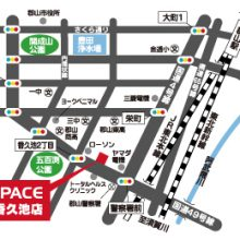 U-SPACE郡山香久池店MAP